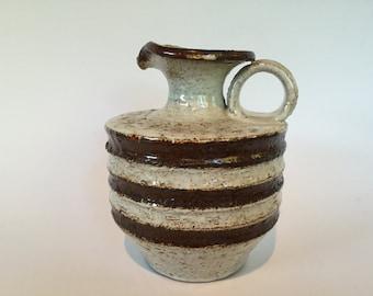 Krösselbacher Fayence Keramik  Mid Century Modern 1970s West Germany studio Pottery.