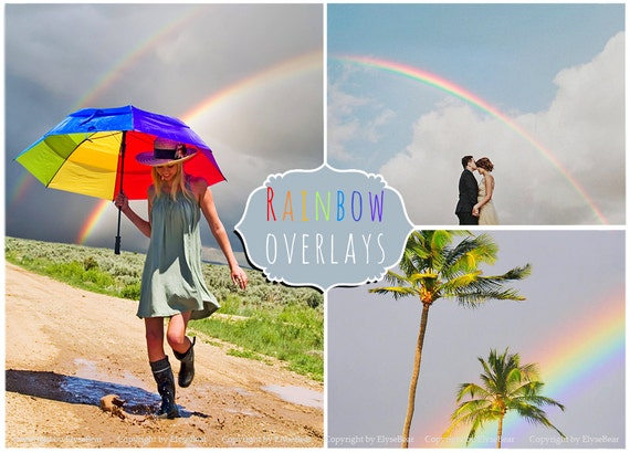 how to get rainbow effect photoshop