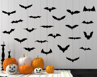 halloween decal halloween halloween wall decal bat decal bat wall decal - Halloween Bat Decorations