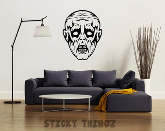Walking Dead Decal, Zombie Decal, Zombie Wall Decal, Halloween Decal, Horror Decal, Ghoul Decal, Haunted House Decal, Home Decor