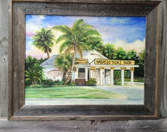 Wabasso Tackle Shop Canvas Giclee From Oil Painting Old Vero Beach Florida