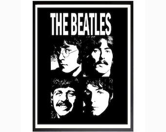 The Beatles Poster, The Beatles Print, Beatles Printable Art, Instant Download, Digital Print, Digital Poster, The Beatles Rock and Roll