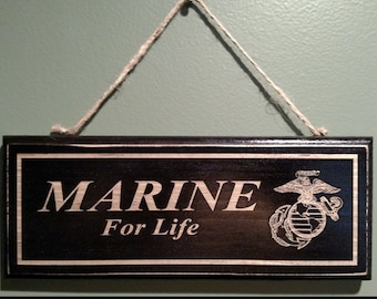 Marine Retirement Wall Sign