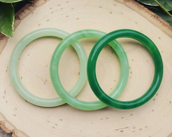 Heavy Jade Bangles [Sold Separately]