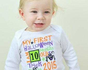 My 1st Halloween Onesie! Halloween 2015 milestone, First Halloween Outfit, Babys First Halloween