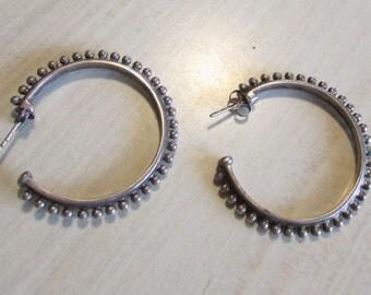 Sterling Silver Hoop Earrings from India