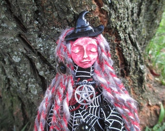 Spirit Doll,Goddess Cerridwen Spirit Doll,Poppet Doll,Alter Doll,Art Doll