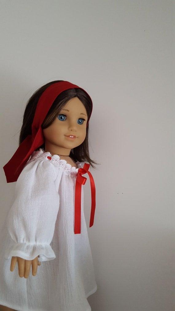 josefina montoya night shift for american girl doll or any 18. Black Bedroom Furniture Sets. Home Design Ideas