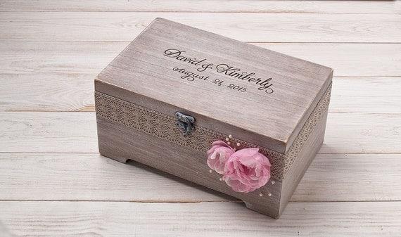 Personalized Wedding Card Box Rustic Card Box Rustic Wedding Box Wood ...