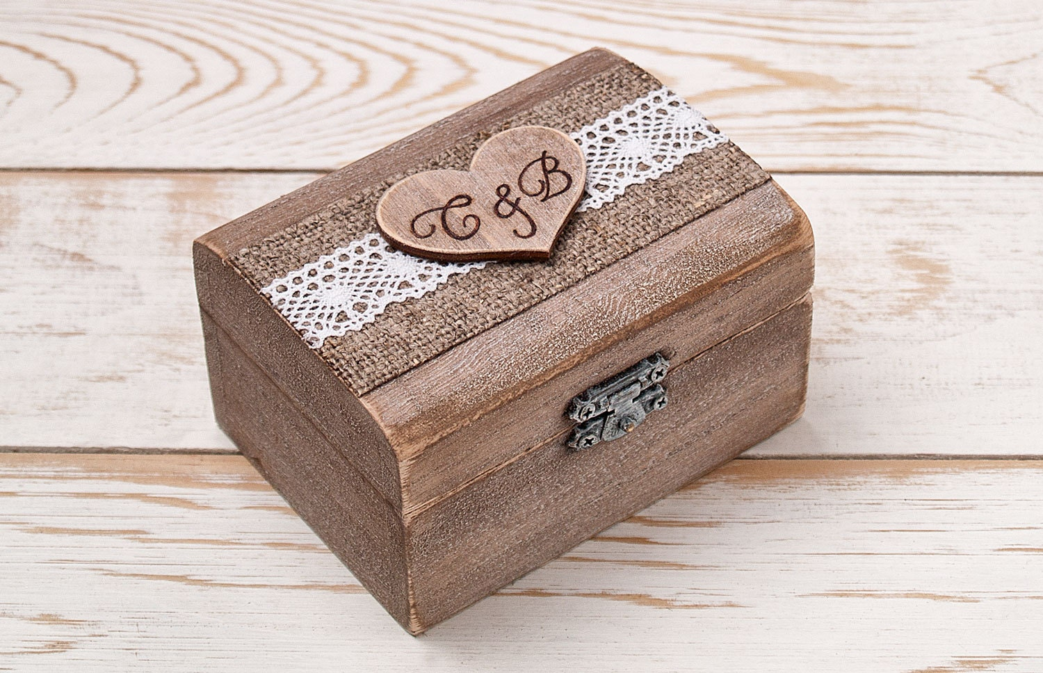 Ring bearer box wedding ring box ring holder wooden for Wedding ring holder box