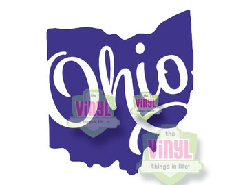 Ohio decal, Ohio state sticker, State of Ohio, OH pride, Laptop decal, Car decal, Buckeye state decal, OH sticker, State decals
