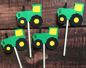 Tractor Cupcake Toppers, set of 12 or 24