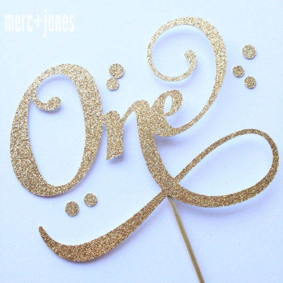 Thirty | Twenty One | One | Forty | Fifty - Gold or Silver Glitter Age Cake Topper