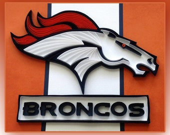 Denver Broncos Logo Art: Quilling, Wall Decor