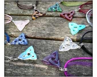 Triquetra Necklace Choice of Stones