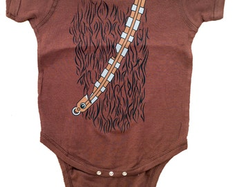 Baby Chewbacca Star Wars Infant Baby Romper Bodysuit