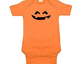 Jack O' Latern Infant Baby Romper Bodysuit