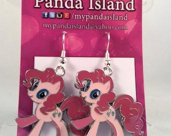My Little Pony Pinkie Pie earrings