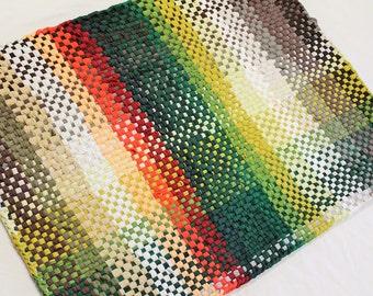 100 Cotton Plaid Rugs BlackWhite Multi Color Hand woven