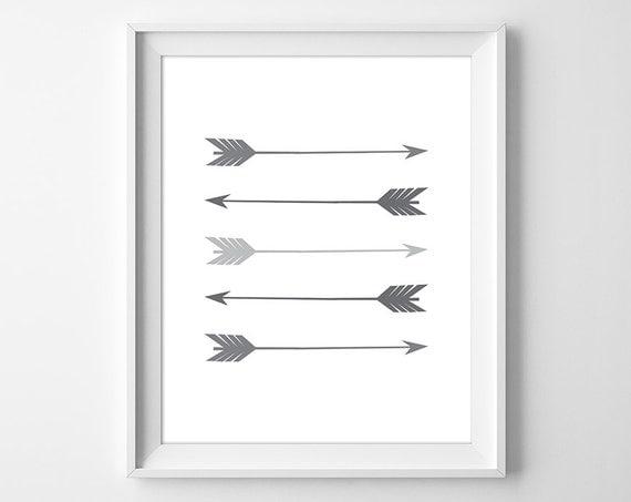 Grey Arrow Wall Decor : Arrow print wall art grey by claresprintables