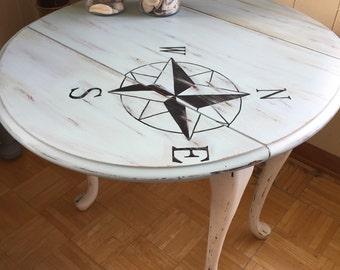 Nautical/Beach themed Drop Leaf Table