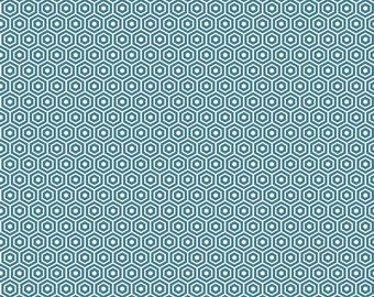 Found Hexagon Aqua by Riley Blake Designs - C3695-Aqua - Sold by the Yard