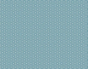 Found Hexagon Aqua by Riley Blake Designs - C3695-Aqua