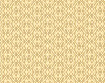 Found Hexagon Yellow by Riley Blake Designs - C3695-Yellow