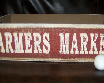 Farmers Market Crate Box Holder Country Decor Farmhouse Fruit Vegetable Store Crates Storage Bins