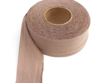 Beige Brown Bias Tape Knit Jersey 1.5 inches wide x 10 yards