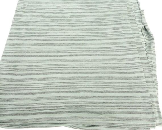 Sage Green And Heather Dark Gray Stripe Knit By Felinusfabrics