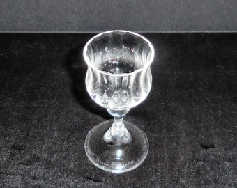 Daum Crystal Cordial Wine Goblet made in France