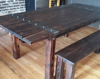 Rustic Dinning Table and Bench(sealed)
