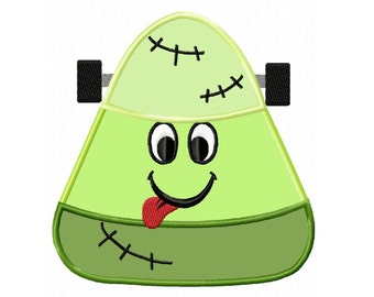 Frankenstein Candy Corn...Instant Download...Applique Machine Embroidery DESIGN NO. 05