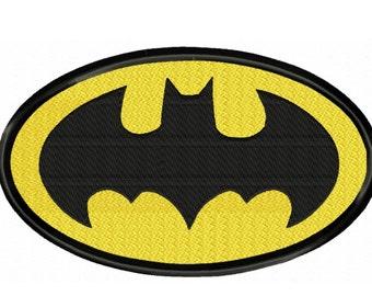 Batman Logo...4 sizes Fill Machine Embroidery DESIGN NO. 341