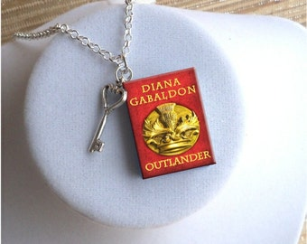 Outlander - with Key Charm - Miniature Book Necklace