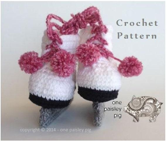 Free Crochet Pattern Baby Hockey Skates : Crochet Figure Skates Includes Hockey & Figure Skates Baby