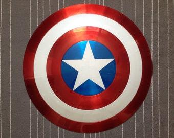 Captain America Shield Metal 1:1 FULL SCALE Avengers Marvel COMIC Style w/ C.O.A
