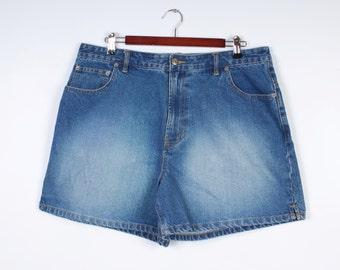 Women Denim Short Shorts Route 66 Denim Plus Size Extra Large Size 18