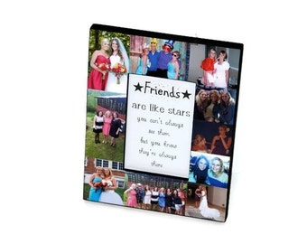 girlfriend boyfriend best friend personalized picture frame collage photo frame college roomies off to college maid of honor sister buddies