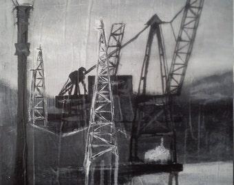 Original River Clyde Landscape A5 Art Print