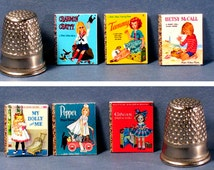 Doll Covers -  6 Little Golden Books  - Dollhouse Miniature - Dollhouse girl toy books - My Dolly and Me, Tammy, Betsy McCall, Ginger, more
