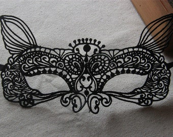 Black Lace Mask for Wedding, Masquerade, Venetian Carnivals, Lace Mask, Phantom Mask, Wedding Masquerade Mask, Halloween Mask