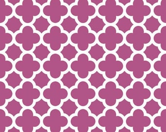 Riley Blake quatrefoil in fuschia