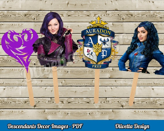 Disney Descendants Cupcake Toppers
