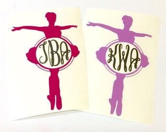 Ballerina Ballet Dancer Monogram Decal