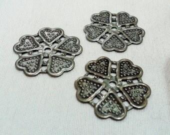 20 Pcs Antique Bronze 22 mm Flower Findings , Antique Bronze Flower Connectors