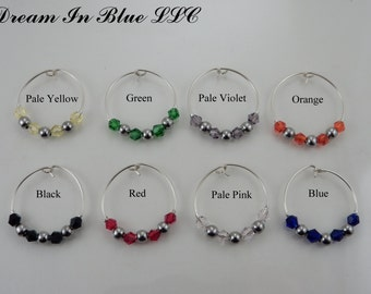 Sterling Silver Wine Glass Charms
