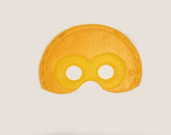 C3PO Droid Felt Embroidered Mask