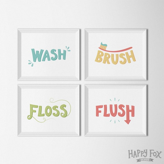 Obsessed image with wash brush floss flush free printable
